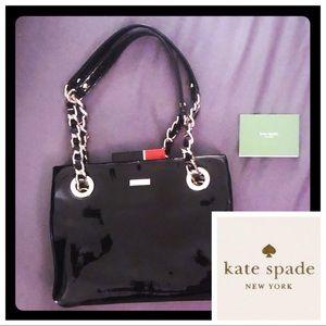 RARE kate spade patent leather lipstick bag, zebra